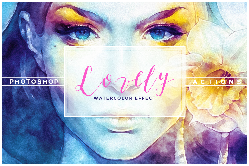 Lovely Watercolor Effect | Photoshop Actions example image 2