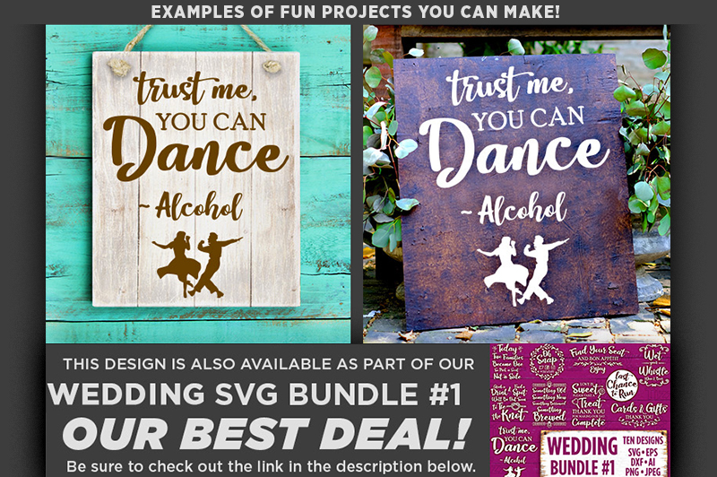 Trust Me You Can Dance Alcohol Wedding SVG File - 5504 example image 2