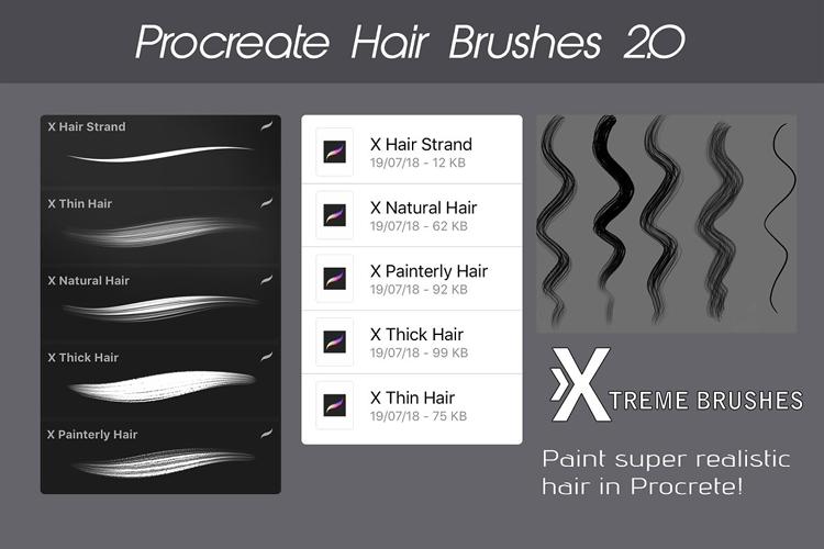 Procreate Hair Bundle example image 2