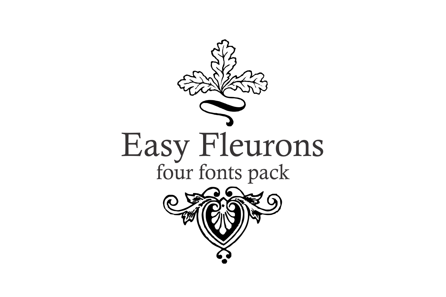 Easy Fleurons Pack (four fonts) example image 1