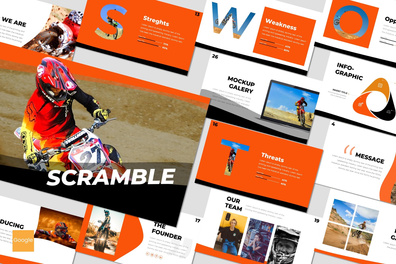 Scramble - Google Slides Template example image 1