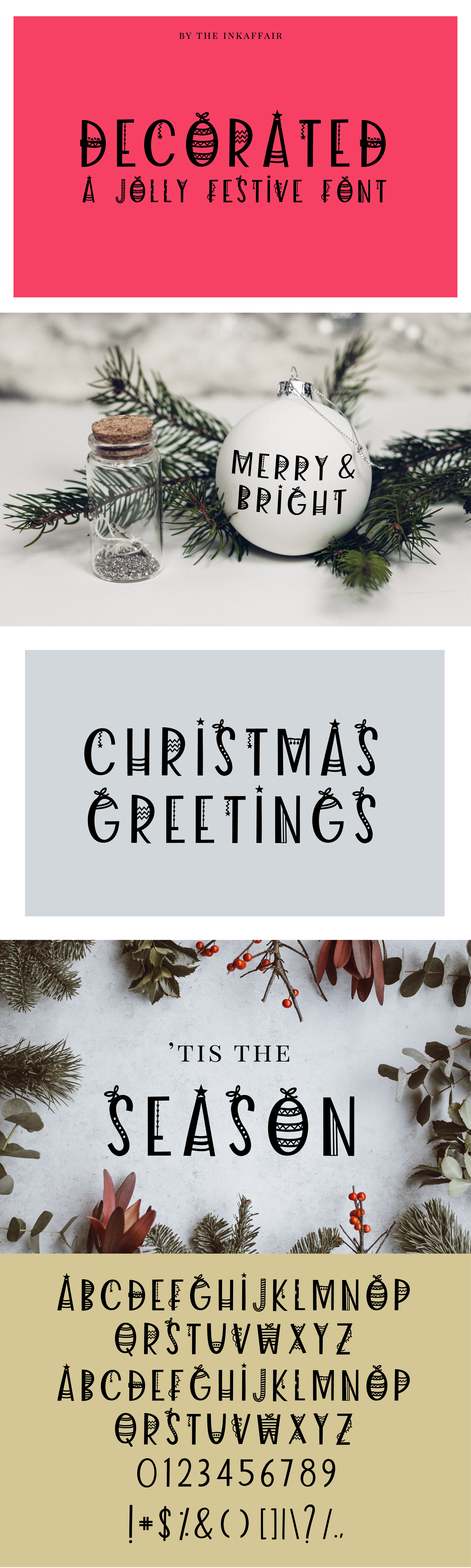 Decorated - a jolly christmas font example image 7