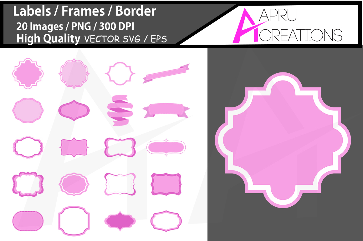 label cut file SVG / label high qualitySVG / frames SVG/ borders / printable high quality designs / hand drawn frames / commercial use example image 1