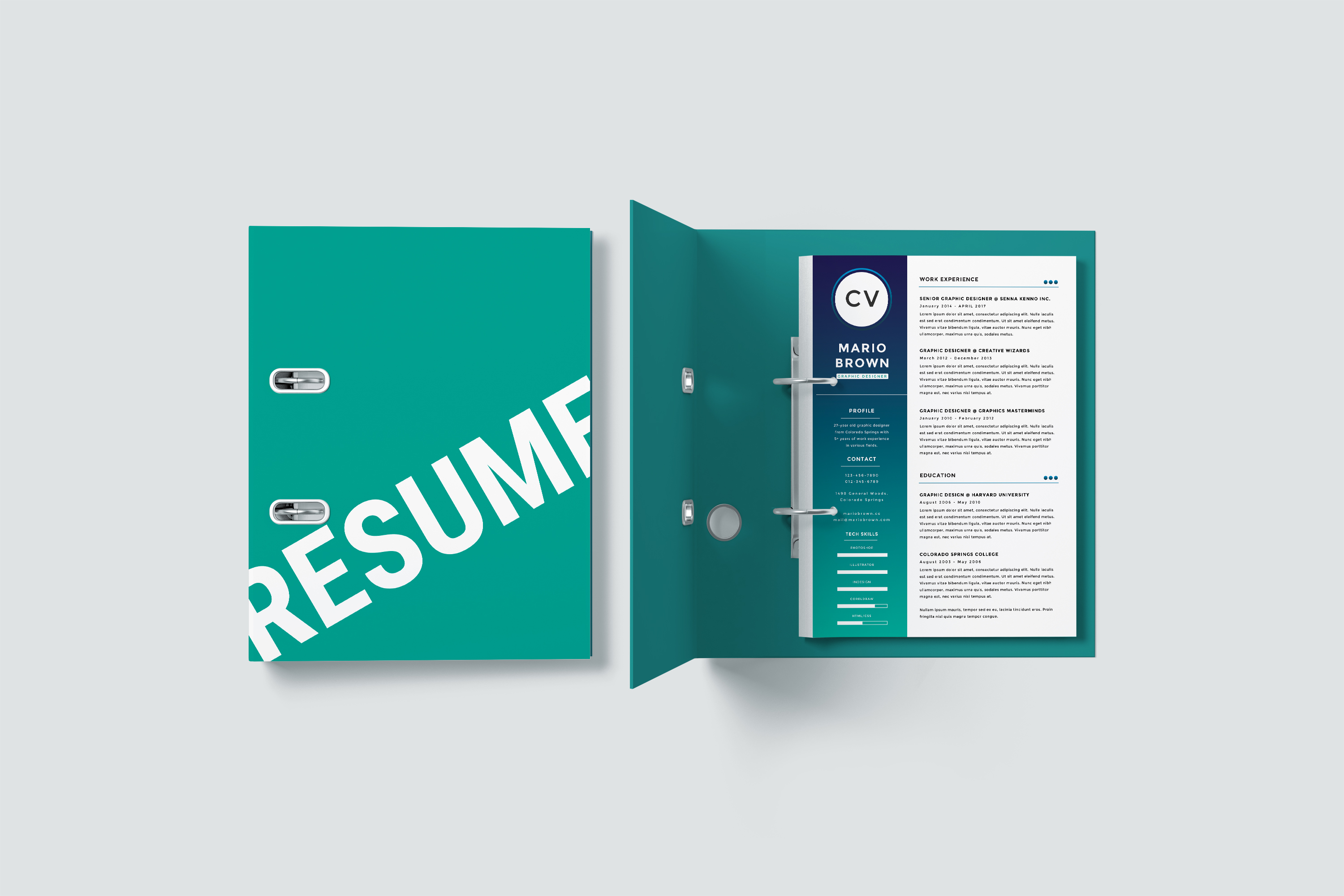 Resume Template 3 pages   CV example image 2