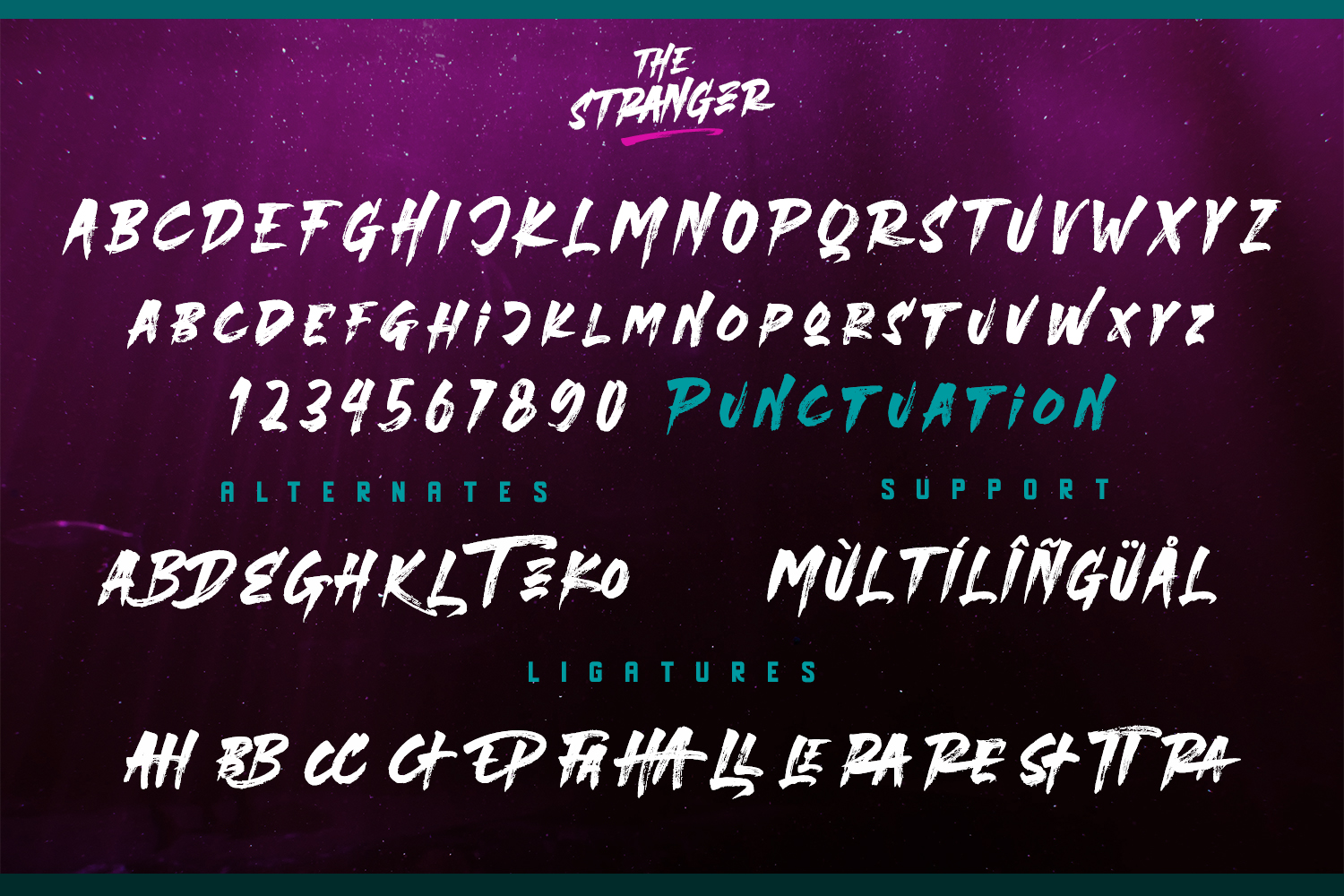 The Stranger Font Duo With Extras example image 10