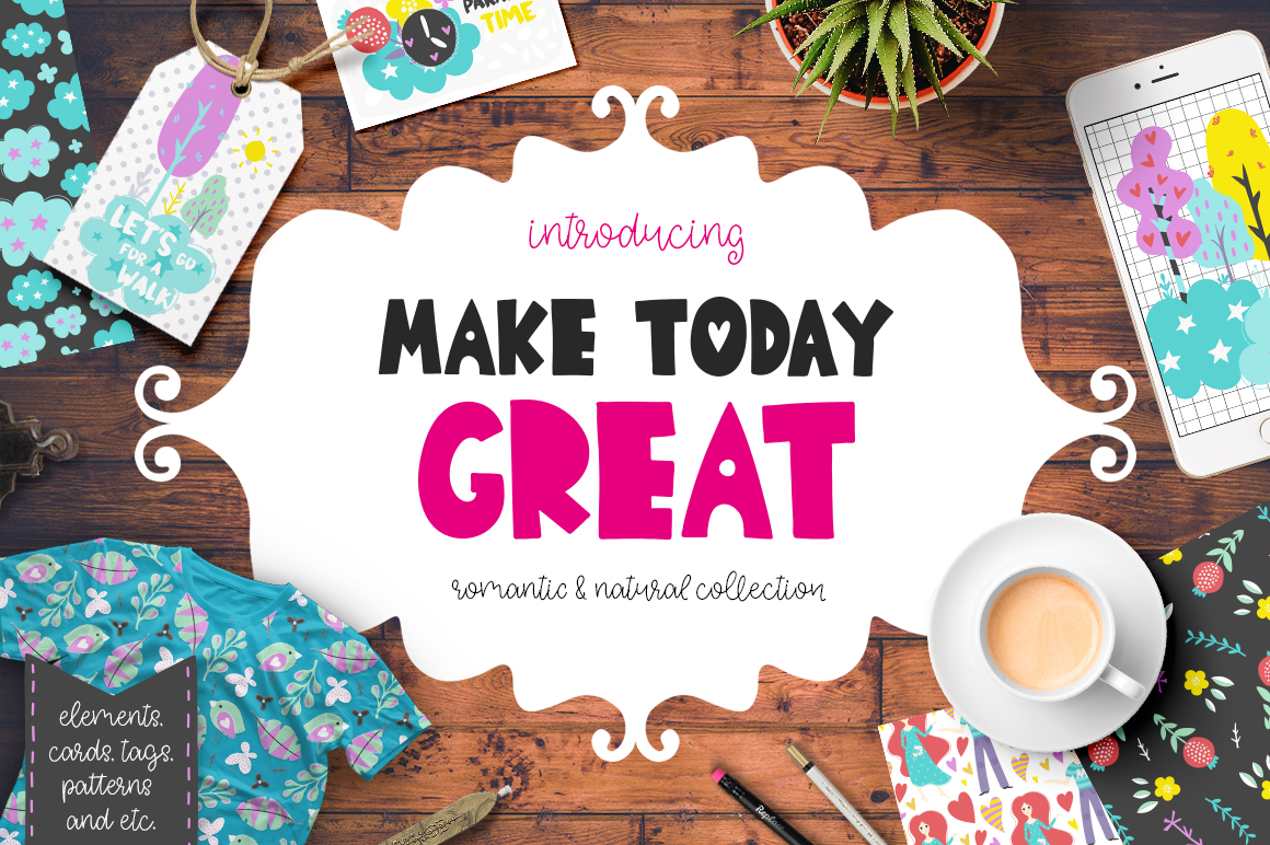 Make Today Great - Clipart Set example image 1