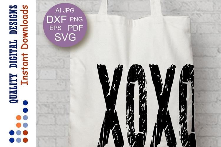 Xoxo svg Grunge shirt design Valentine's day example image 1