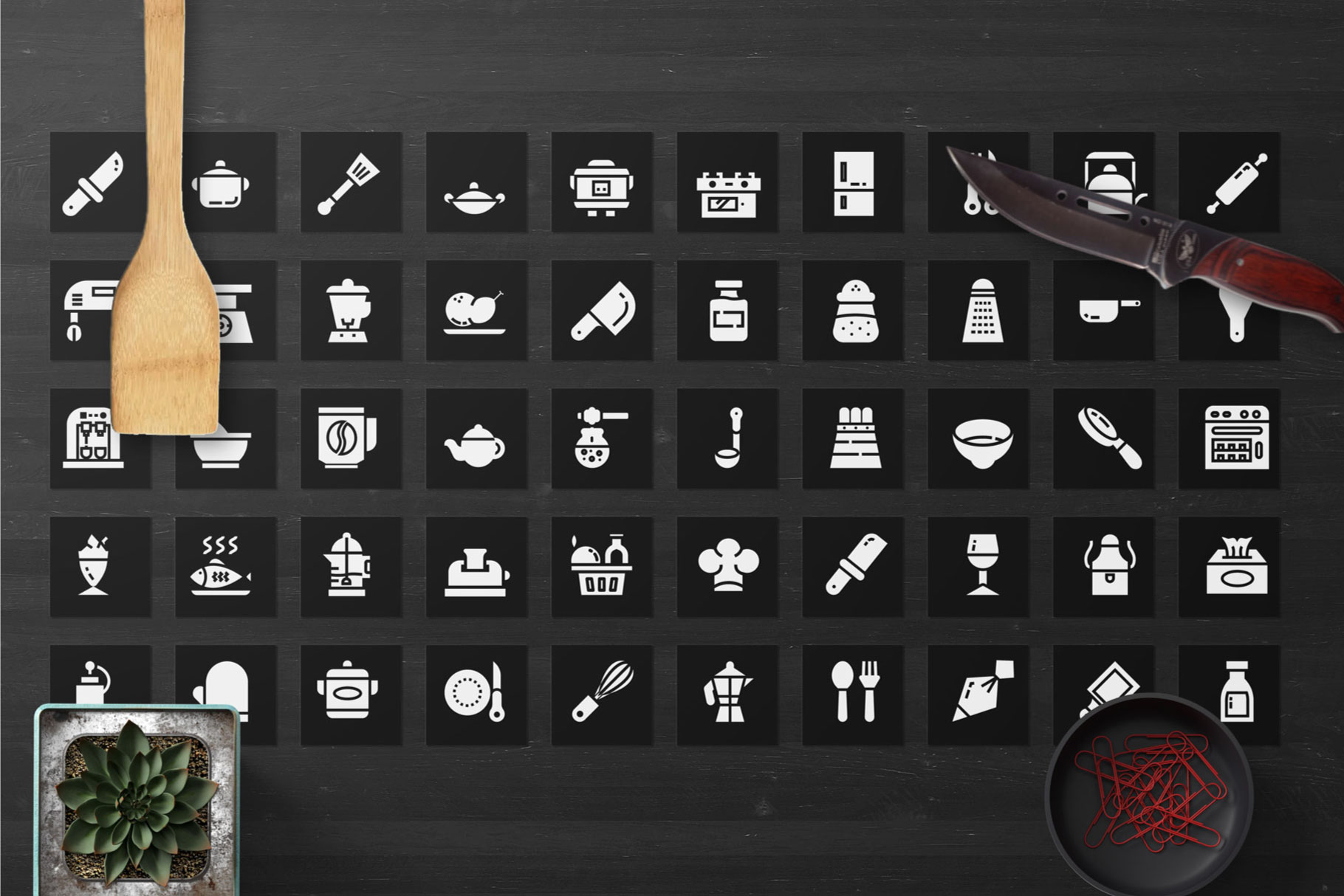 200 Kitchen Icon Pack example image 3