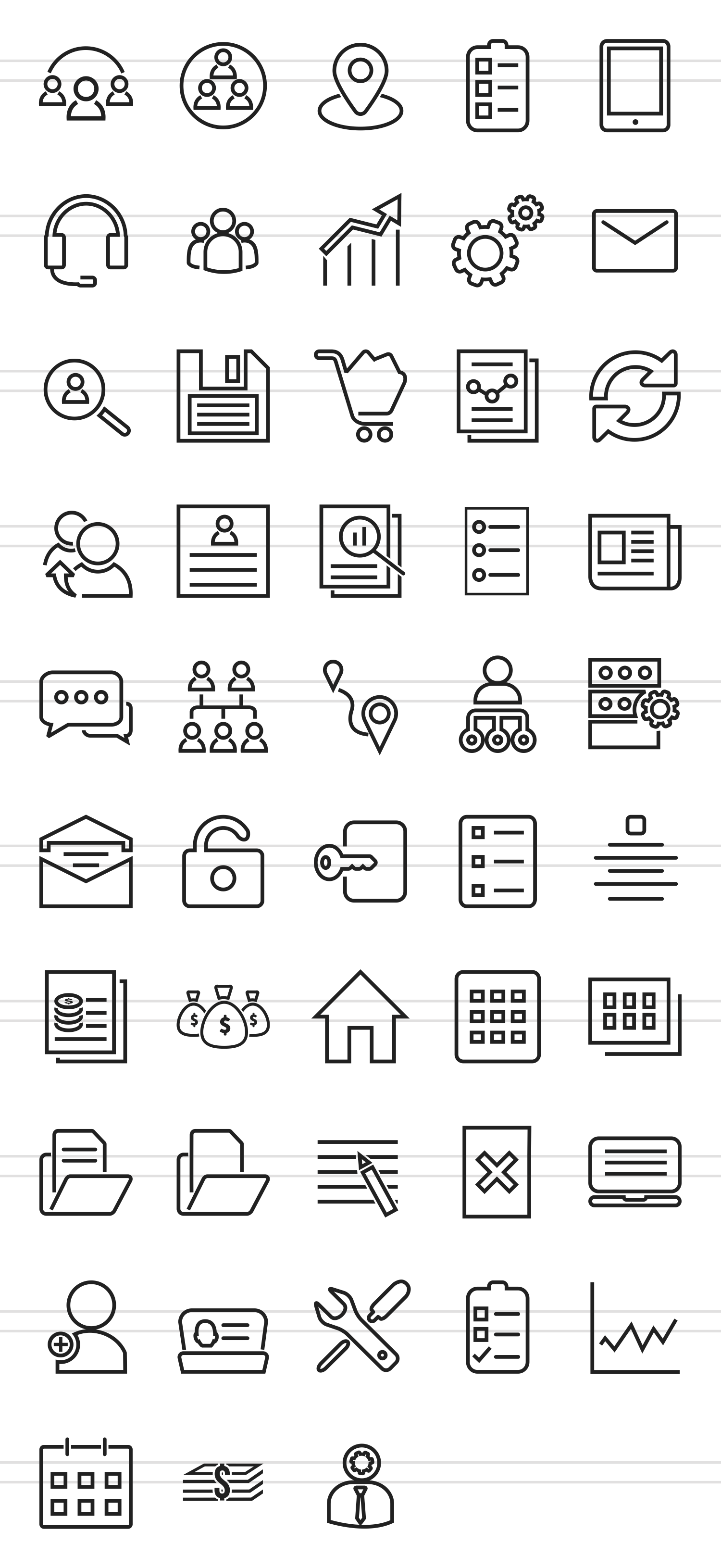 48 Admin Dashboard Line Icons example image 2