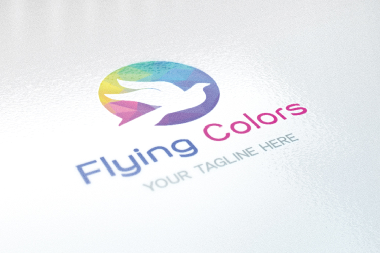 Colorful Flying Dove Bird Logo example image 2