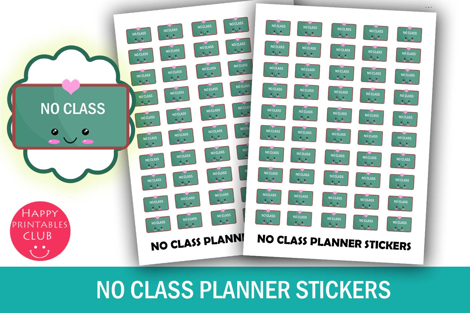 No Class Planner Stickers- No Class Reminder Stickers Cute example image 1