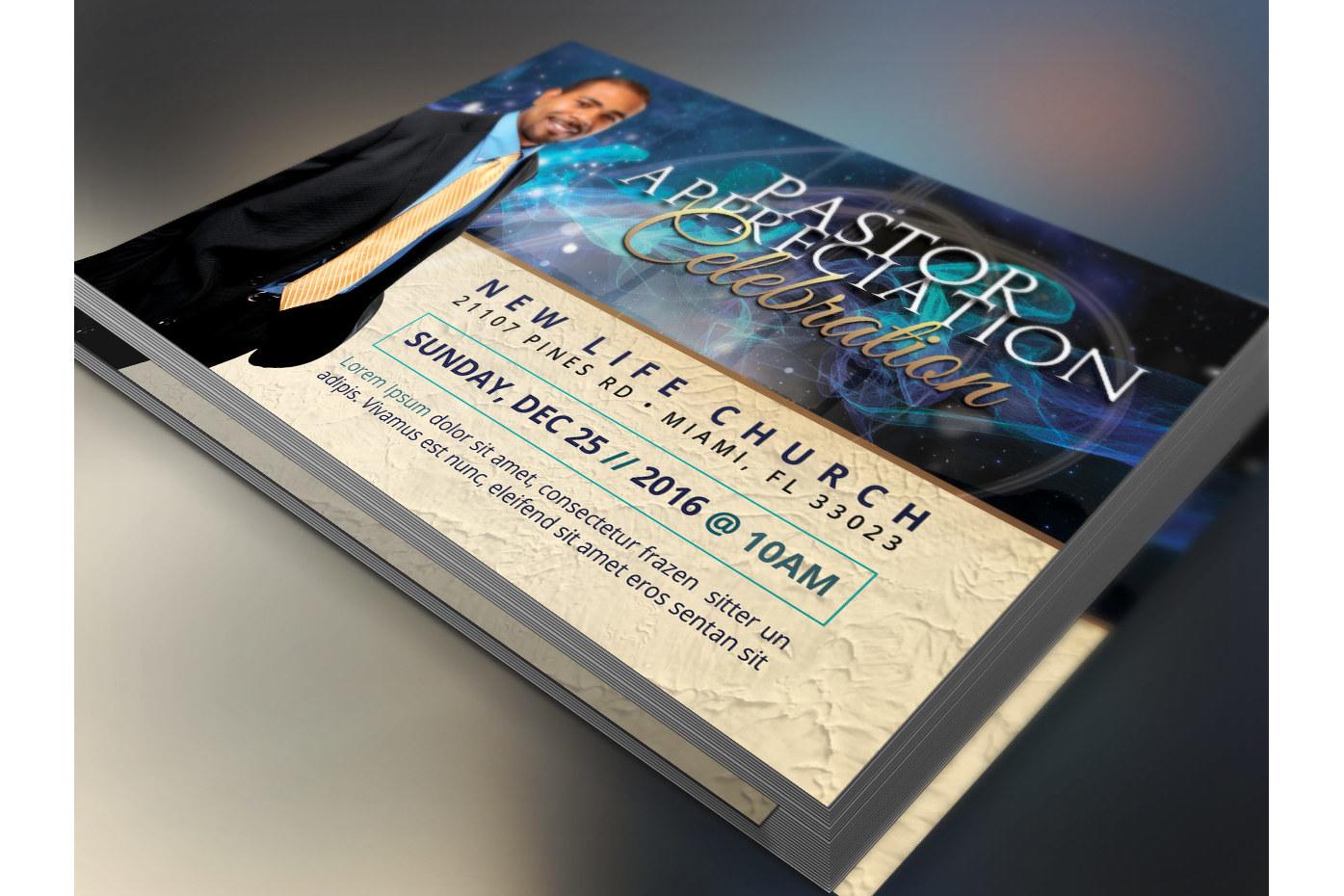 Starlight Pastor Anniversary Flyer Template Vol. 3  example image 2
