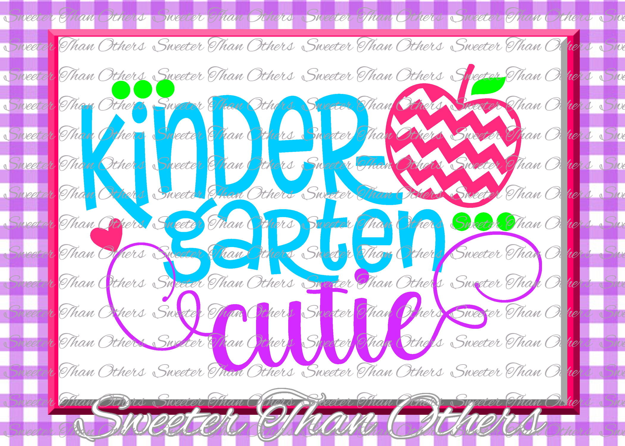 School Cutie SVG Bundle Kindergarten First Day of School example image 9