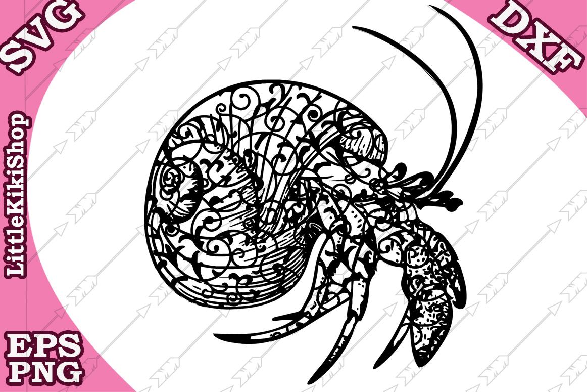 Zentangle Shell Svg, MANDALA SHELL SVG,Sea animal Svg,Winkle example image 1