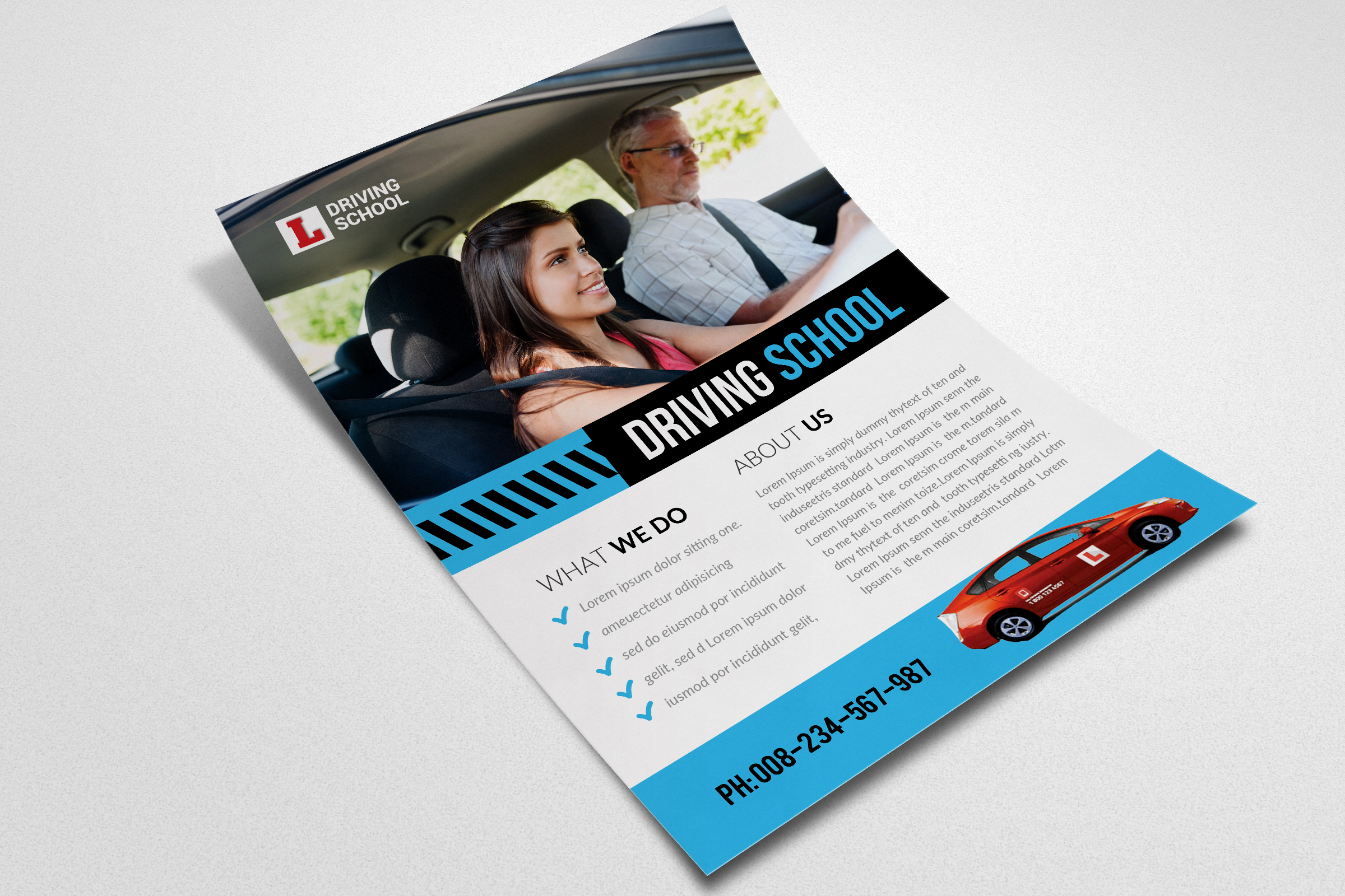Driving School Flyer Template  example image 3