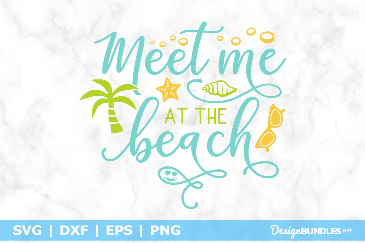 Meet Me at the Beach SVG File example image 1