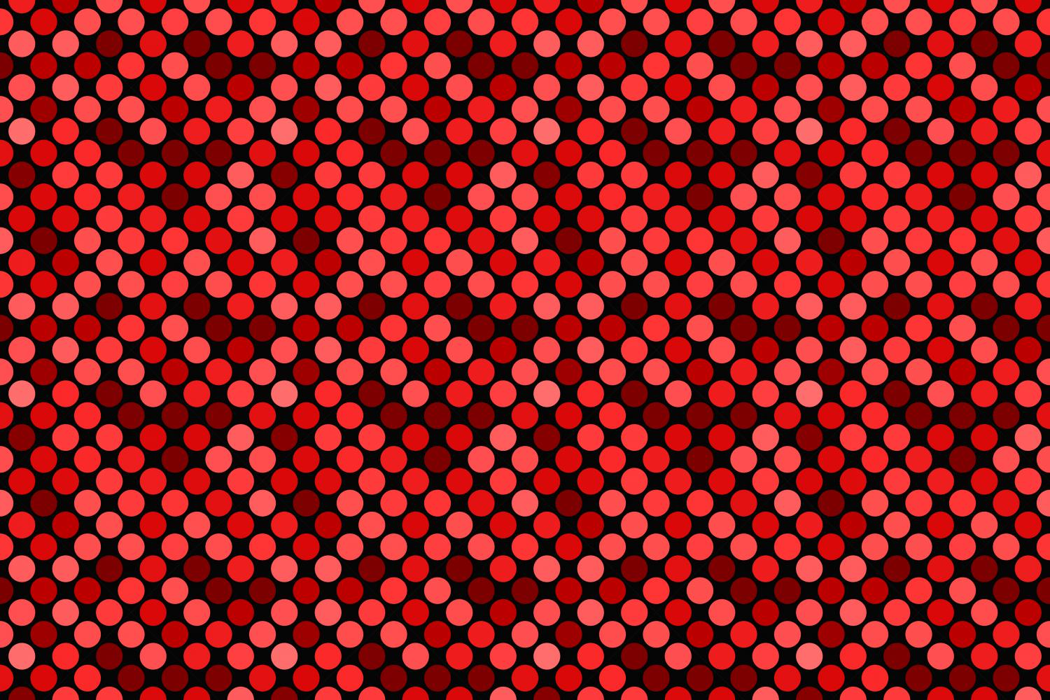 24 Seamless Red Dot Patterns example image 12