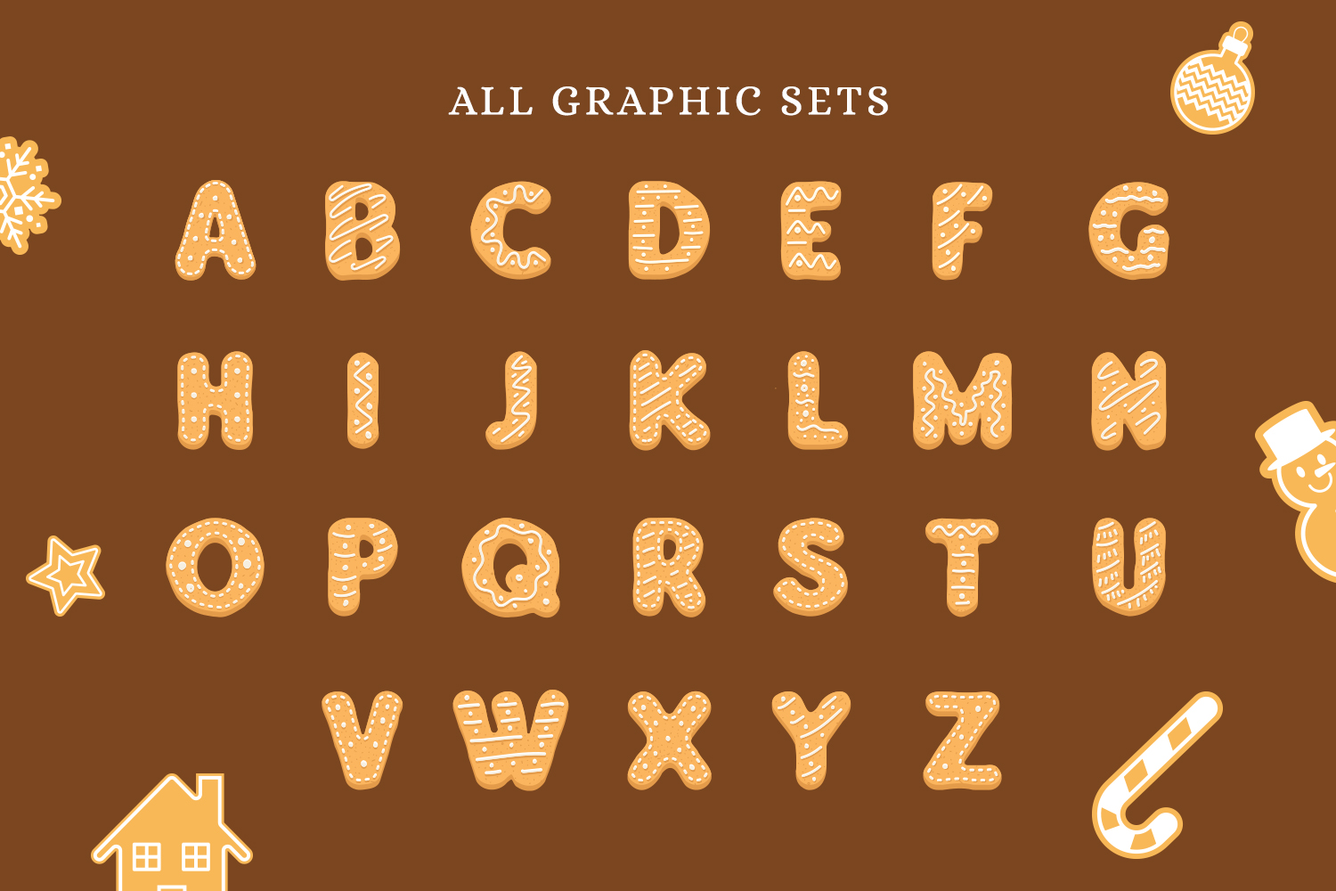 Gingerbread Alphabet Set example image 4
