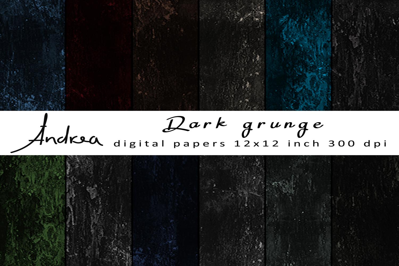 Dark grunge digital papers example image 1