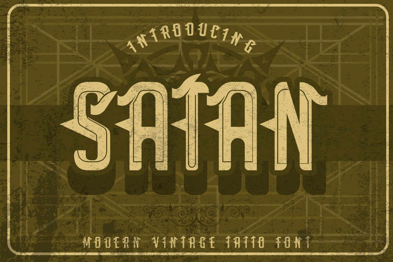 Satan - Modern Tattoo Font  example image 1