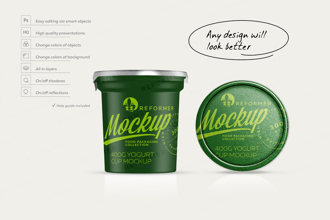400G YOGURT CUP MOCKUP example image 4