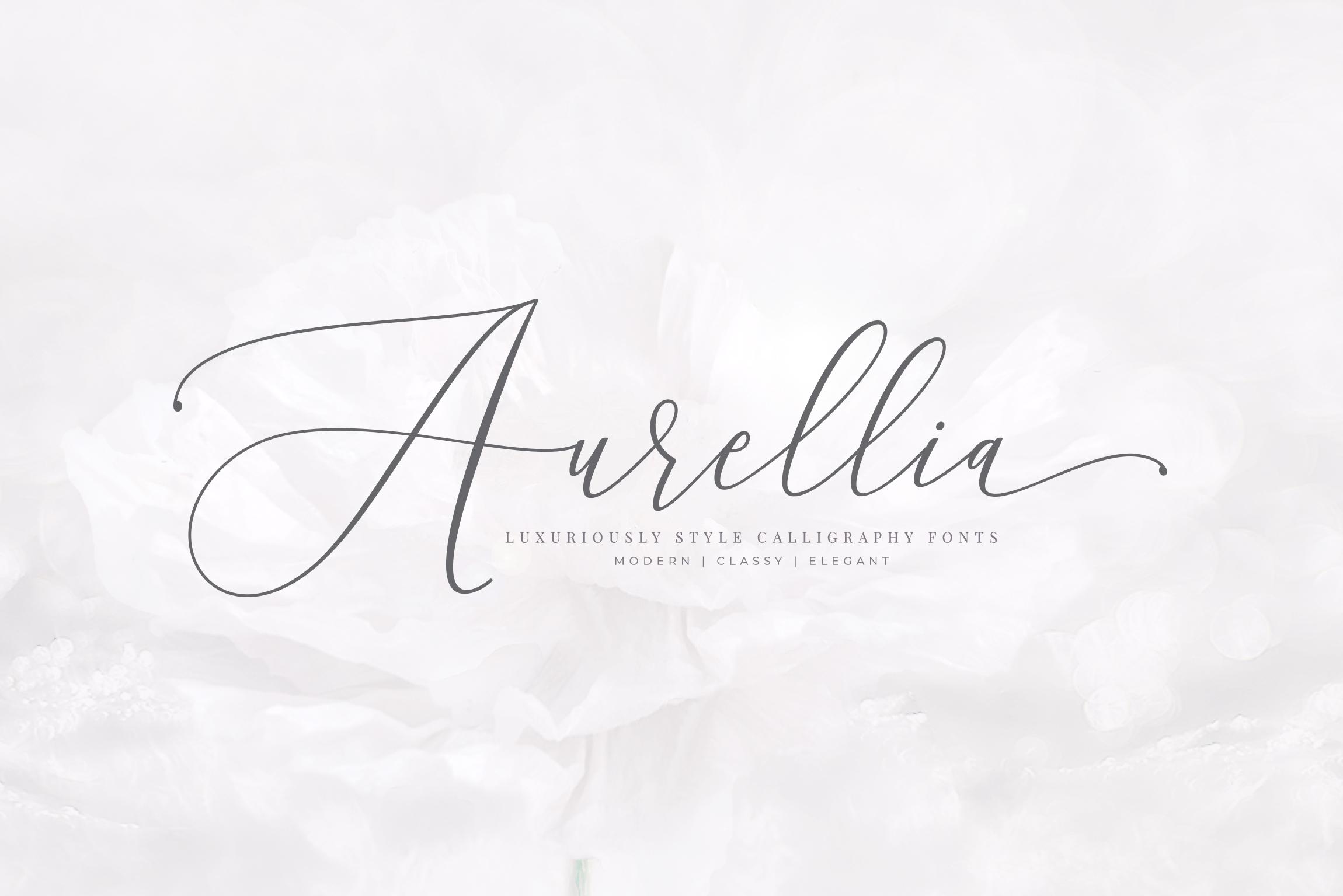Aurellia Script Classy Fonts example image 1