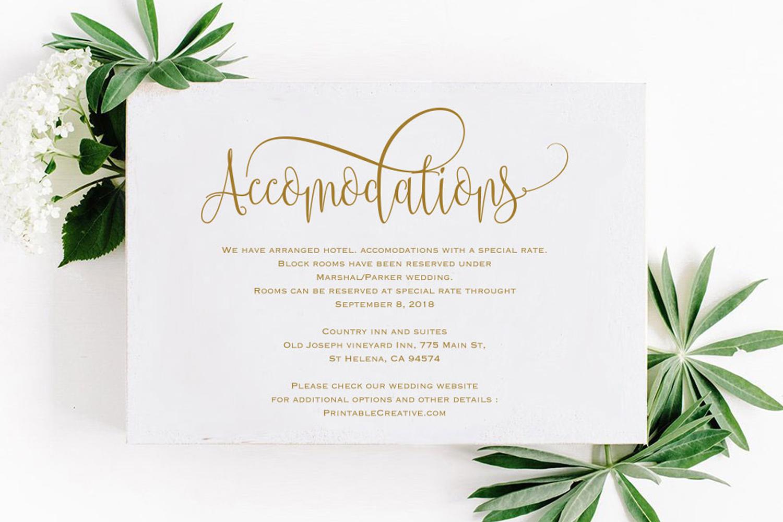 Wedding Information Card example image 1