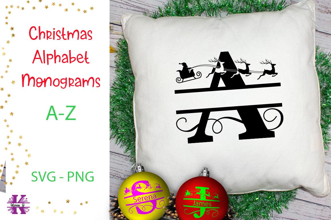 Christmas Alphabet Monogram SVG's example image 1