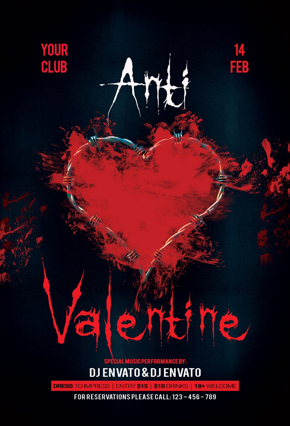 Anti Valentine Day Flyer example image 3