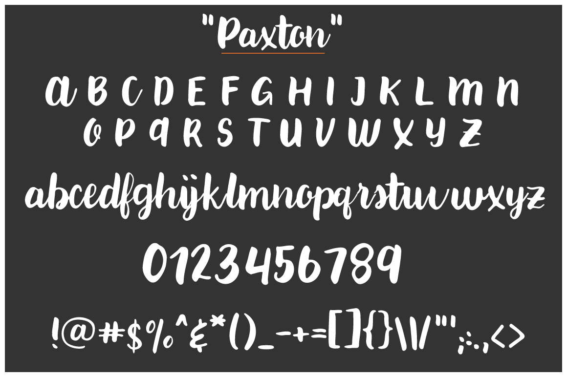 Paxton | A chic Hand written Font example image 7