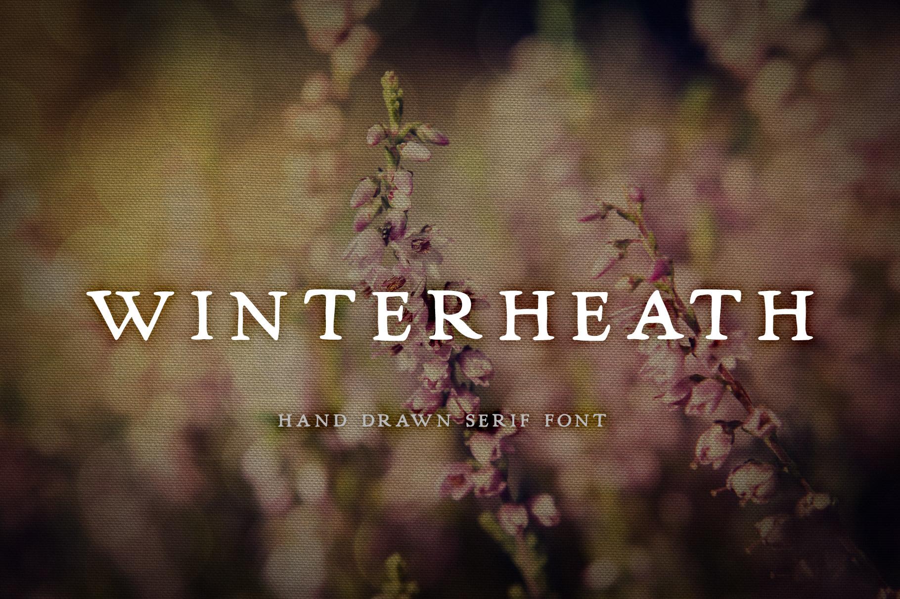 Winterheath Hand Drawn Serif Font example image 1