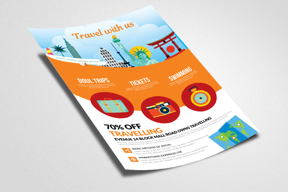Tour & Travel Holidays Flyer Template example image 2