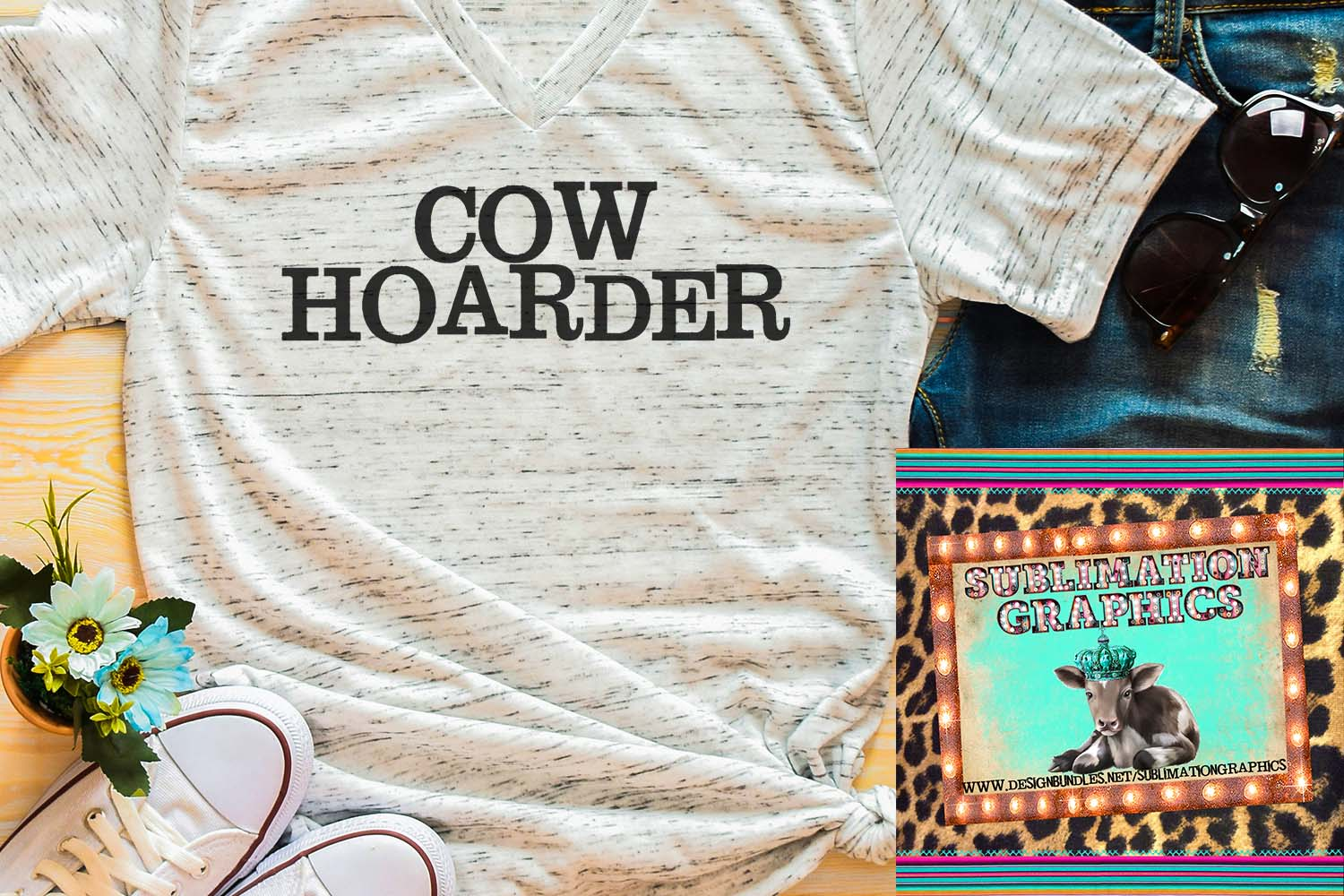 Cow Hoarder Sublimation Download example image 1
