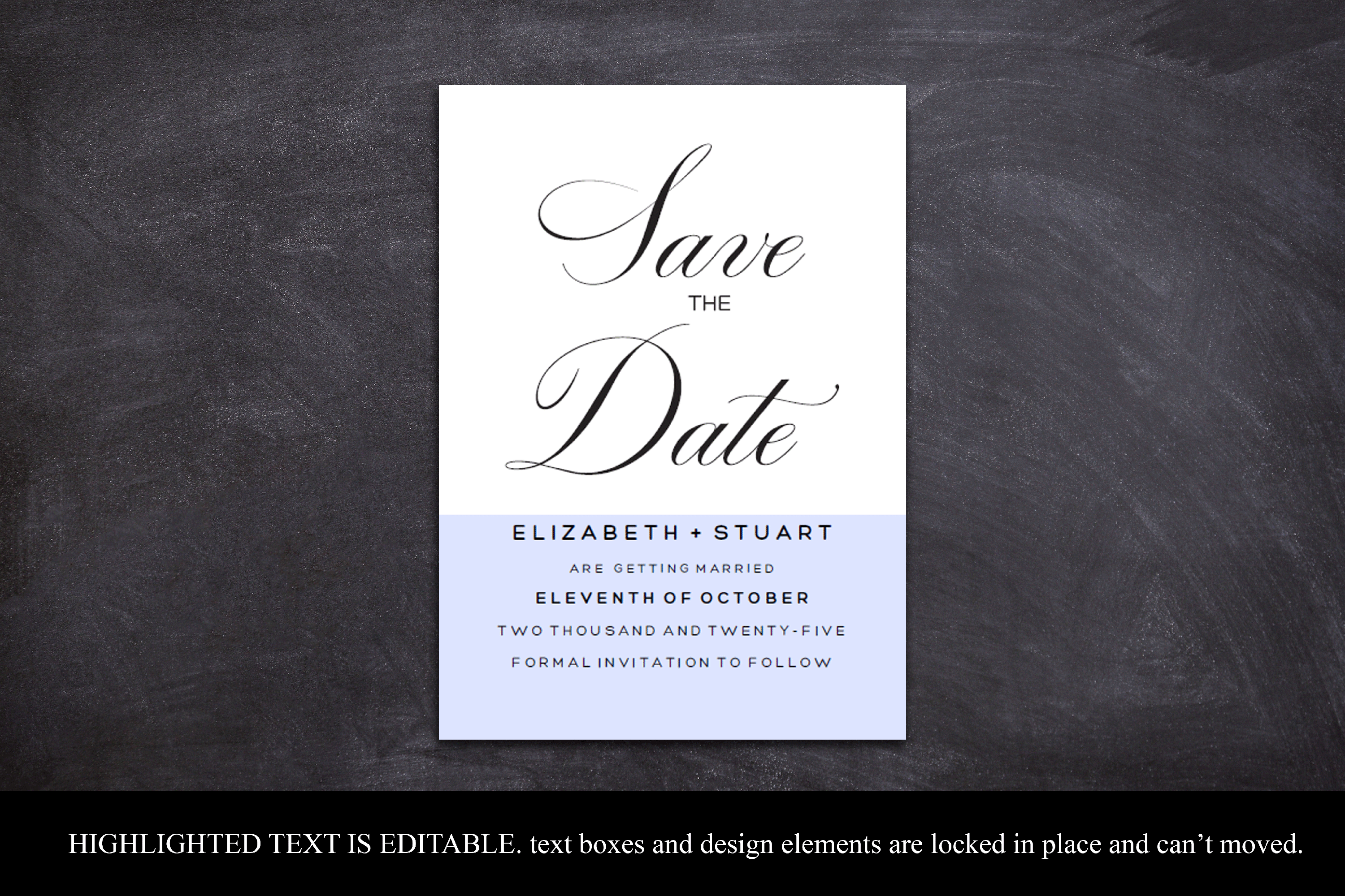 Editable Save The Date Template, Printable Save The Dates example image 4