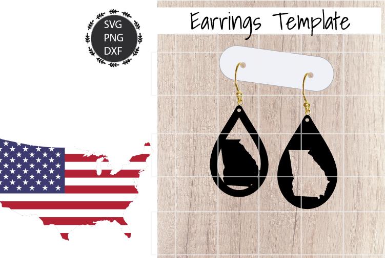 Earrings Template - Georgia Teardrop Earrings Svg example image 1