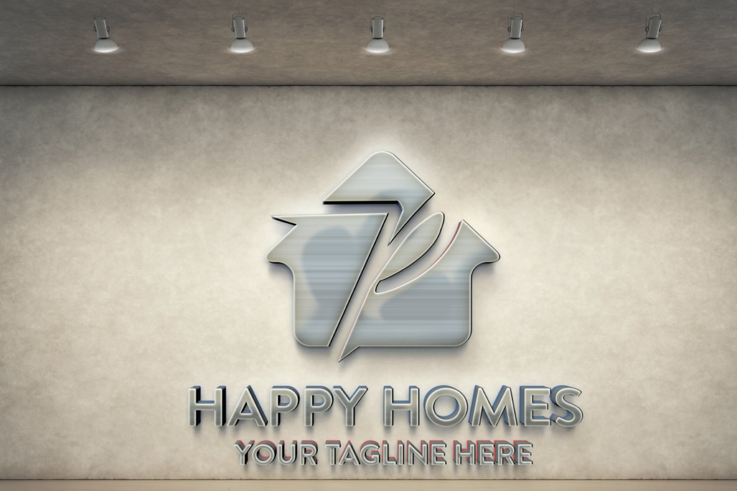 P letter house logo example image 3