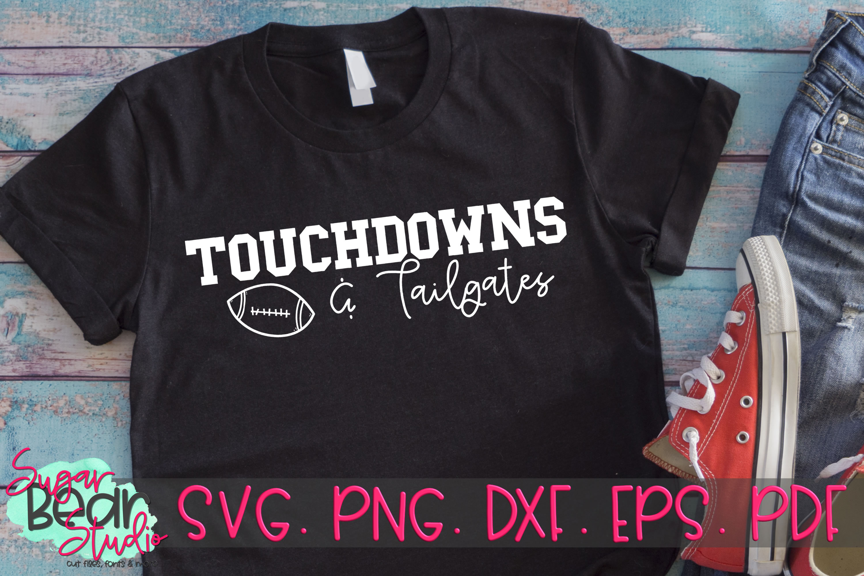 Touch Downs and Tailgates - A Football SVG example image 2