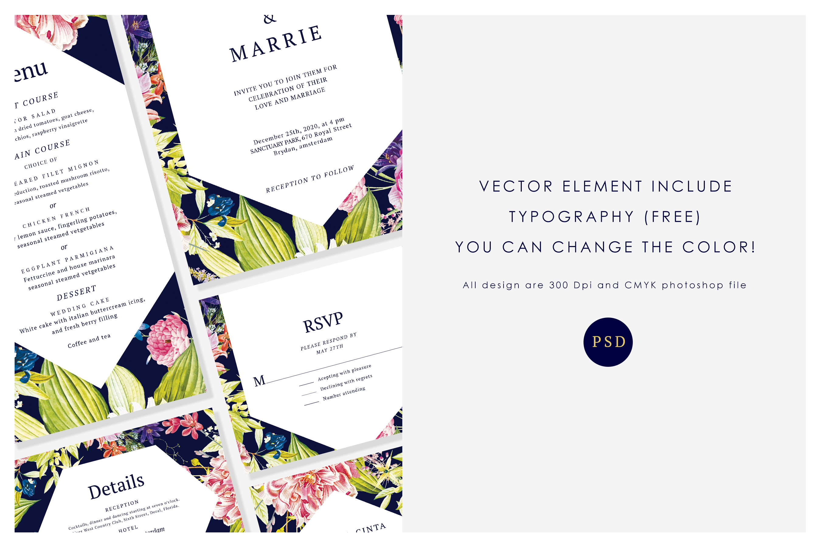 Modern Botanical Wedding Suite example image 2