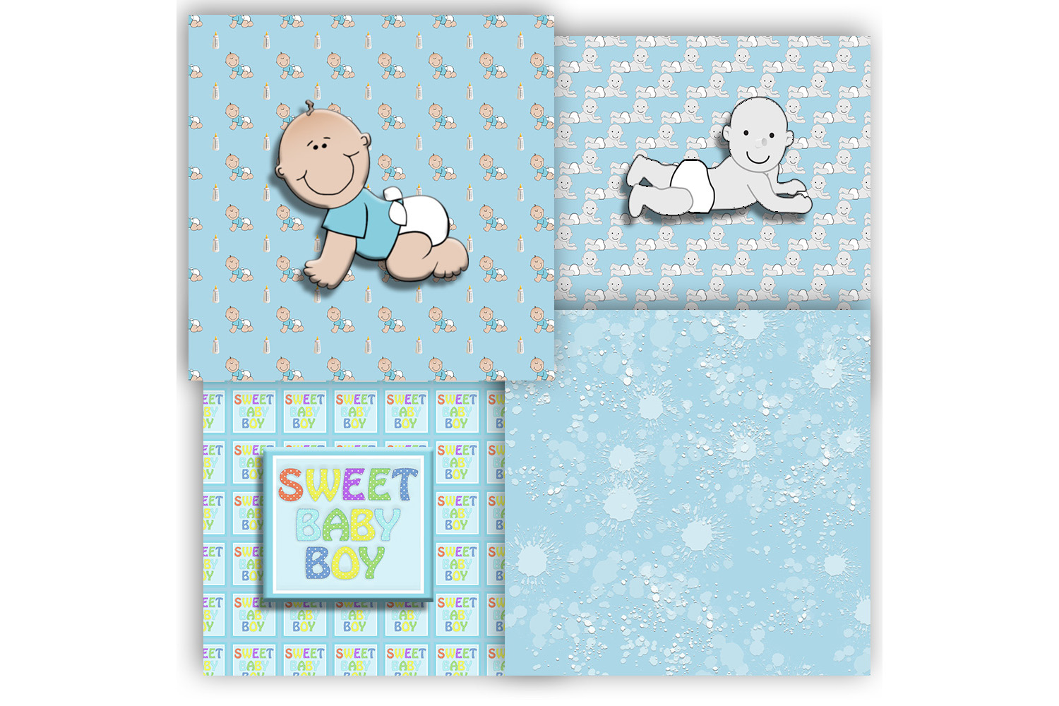 Baby Boy, Baby Shower, Blue Baby Patterned, BLACK FRIDAY,OFF example image 3