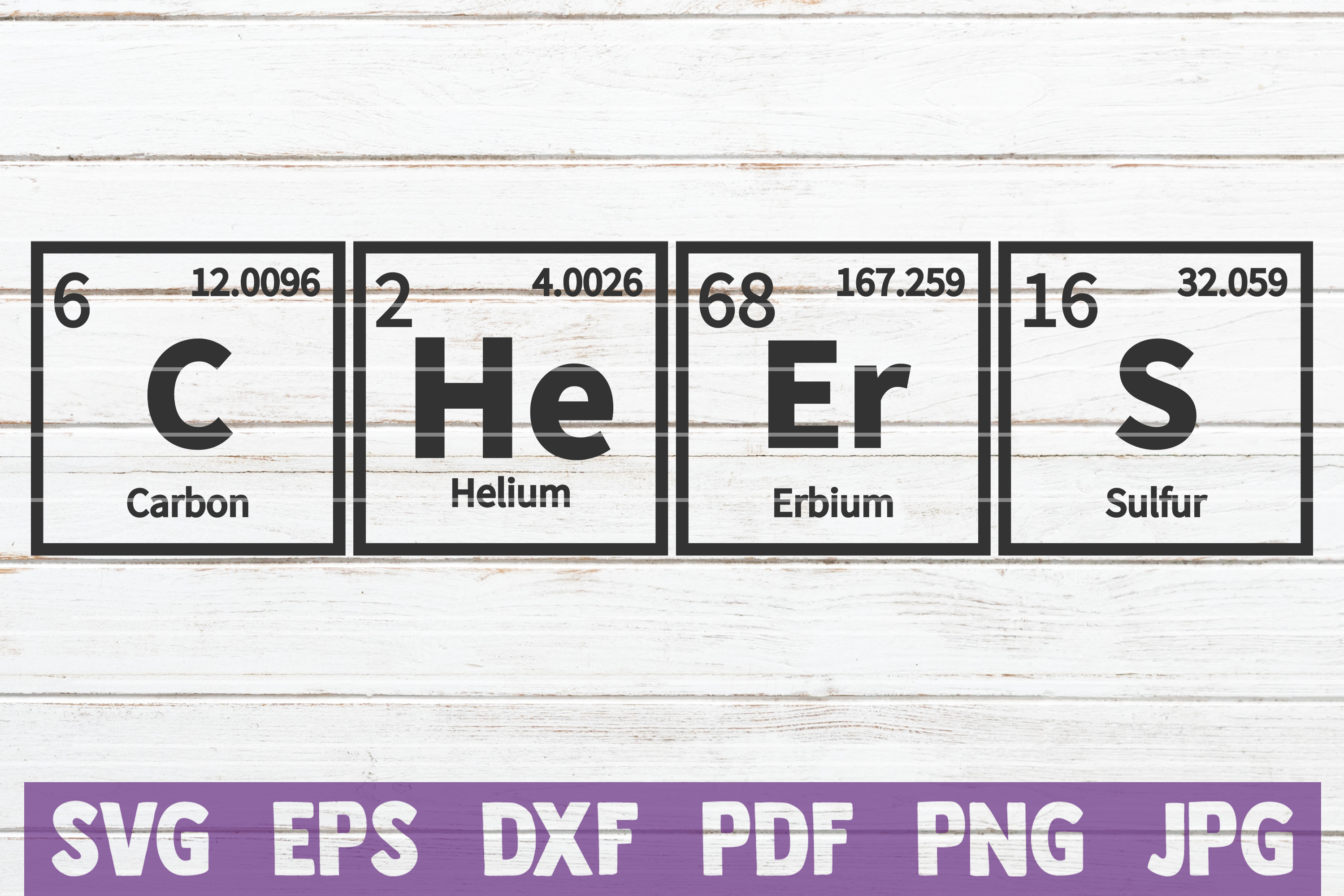 Cheers Periodic Table SVG Cut File | commercial use example image 1