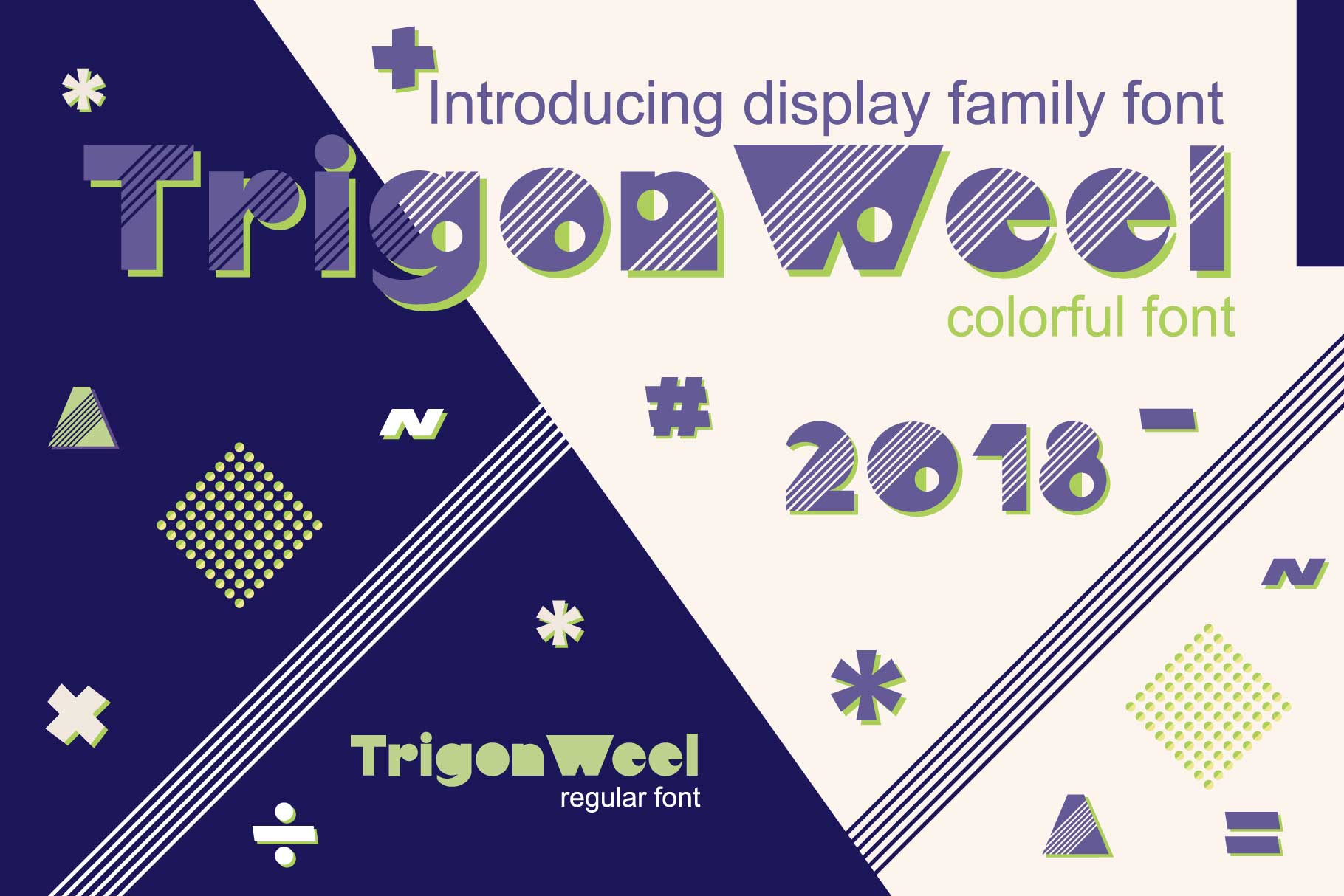 TrigonWeel color OTF font example image 1