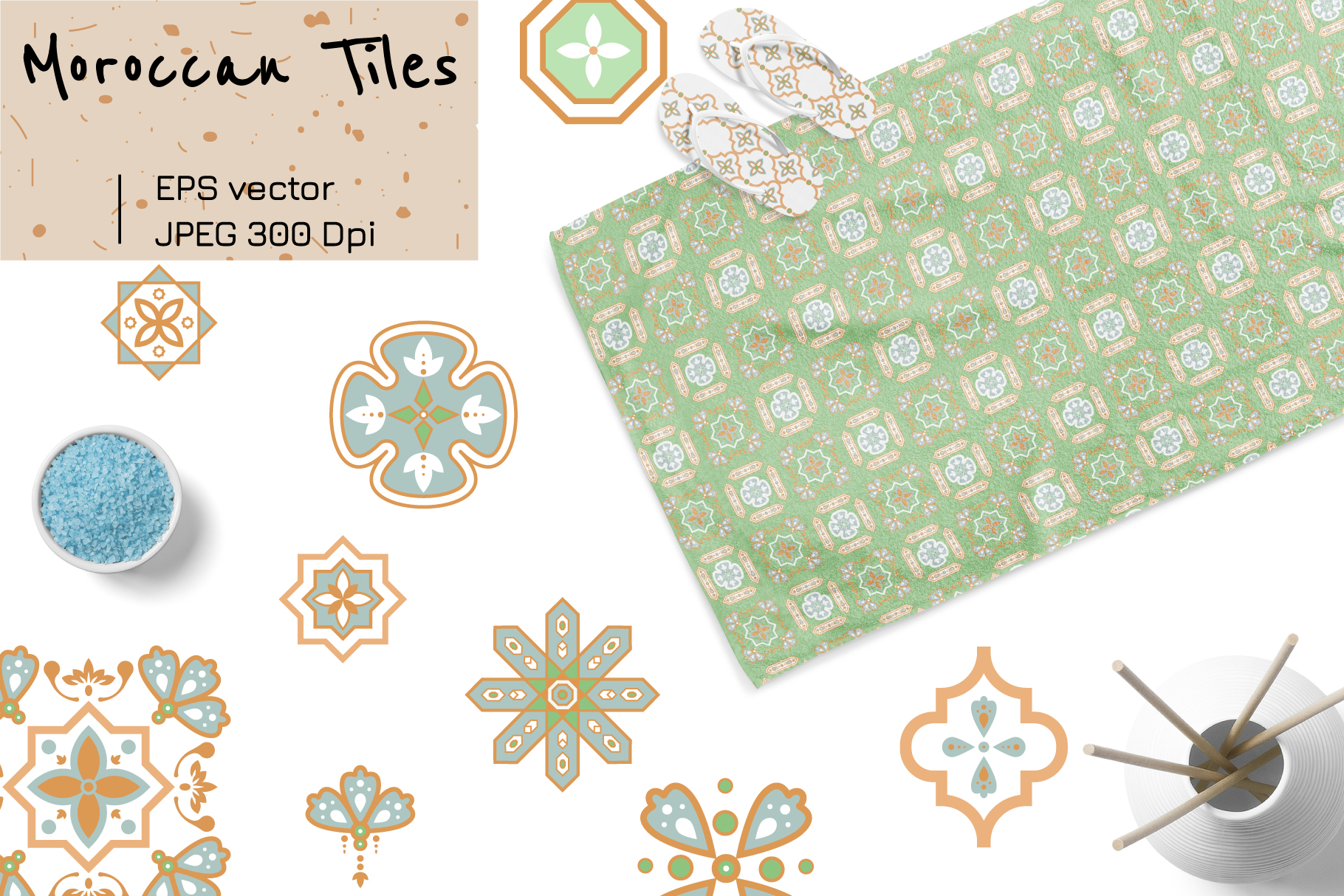Moroccan Tiles - 20 patterns example image 5