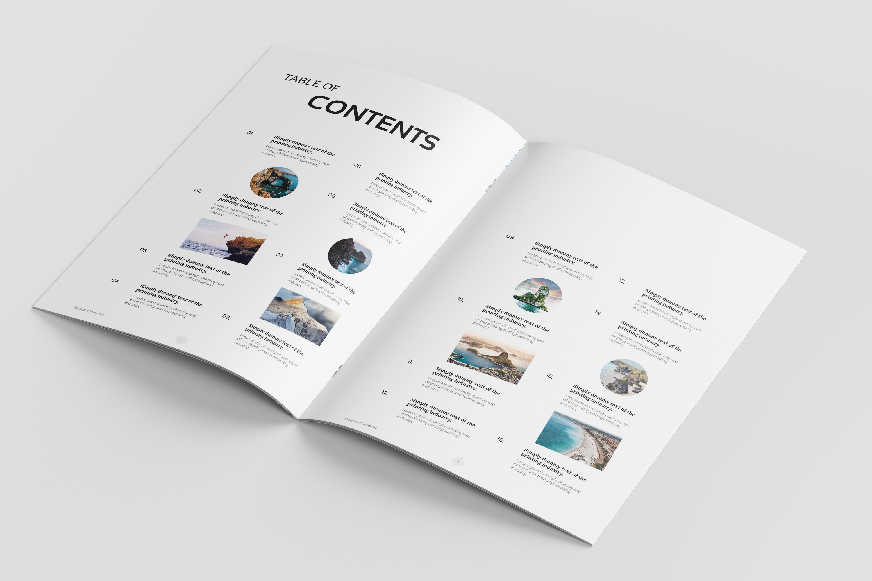 Travel Magazine Template example image 3