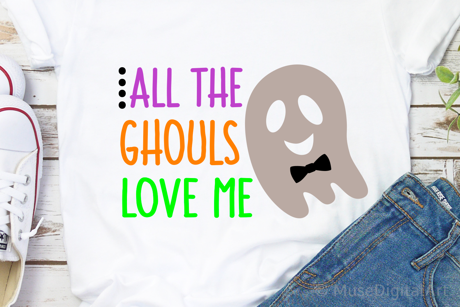 Boy Halloween Shirt Svg, All Ghouls Love Me, Halloween Svg example image 1