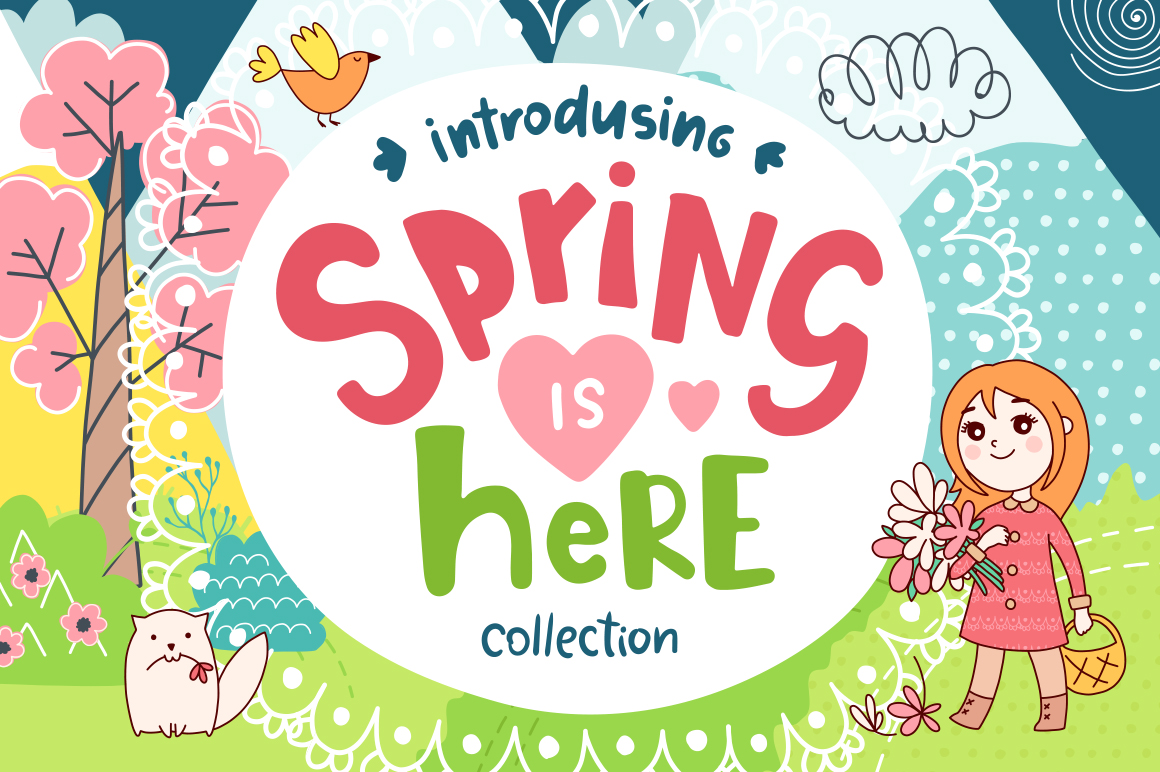 Spring is Here! Graphics & Patterns example image 1