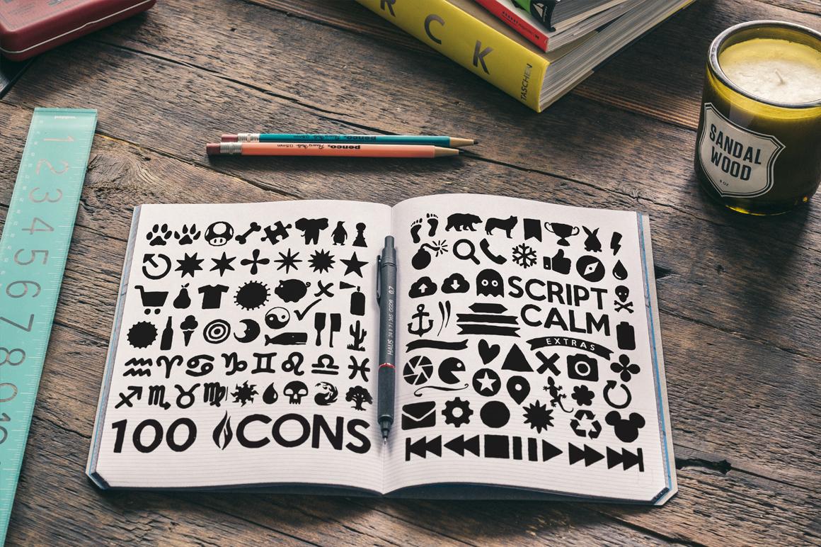 Script Calm + 100 Elements + Bonus example image 3