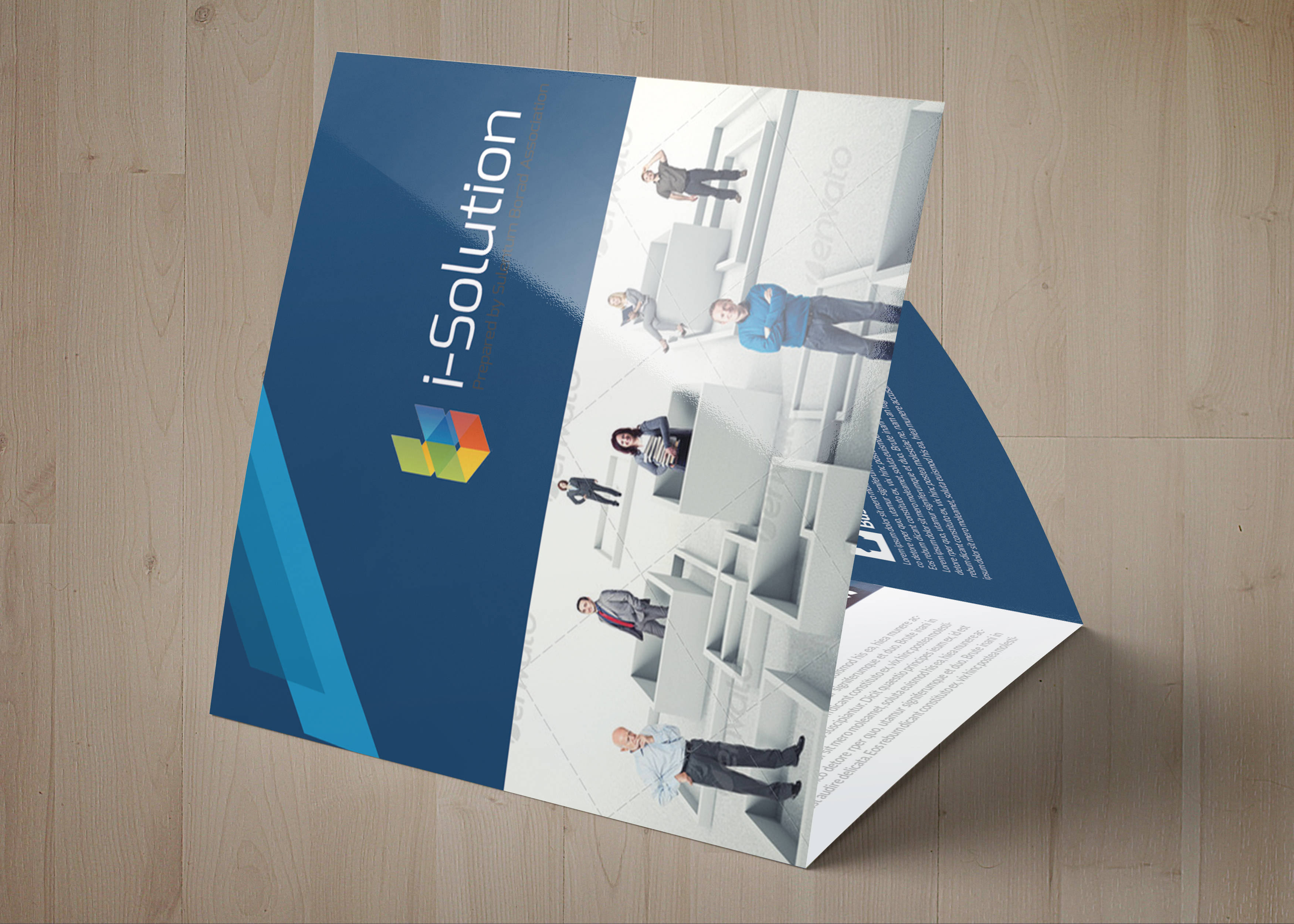 Professional Business Square Trifold Brochure example image 4
