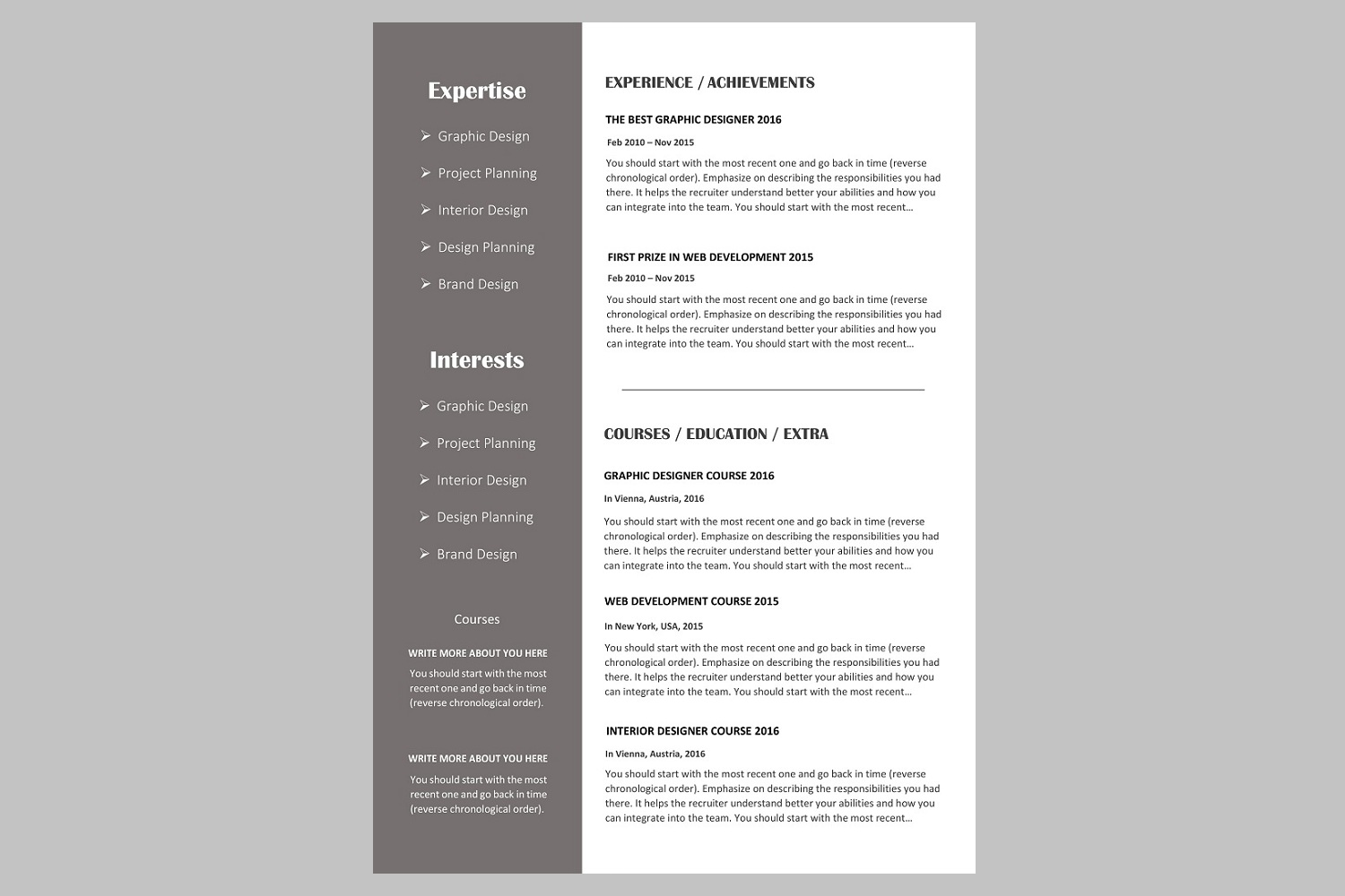 Creative resume template / CV. Bundle offer example image 7