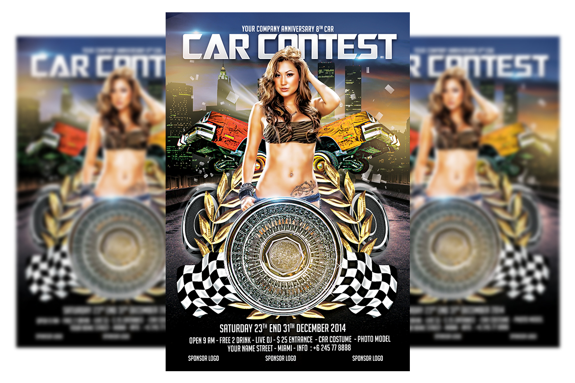 Car Contest Flyer Template example image 1