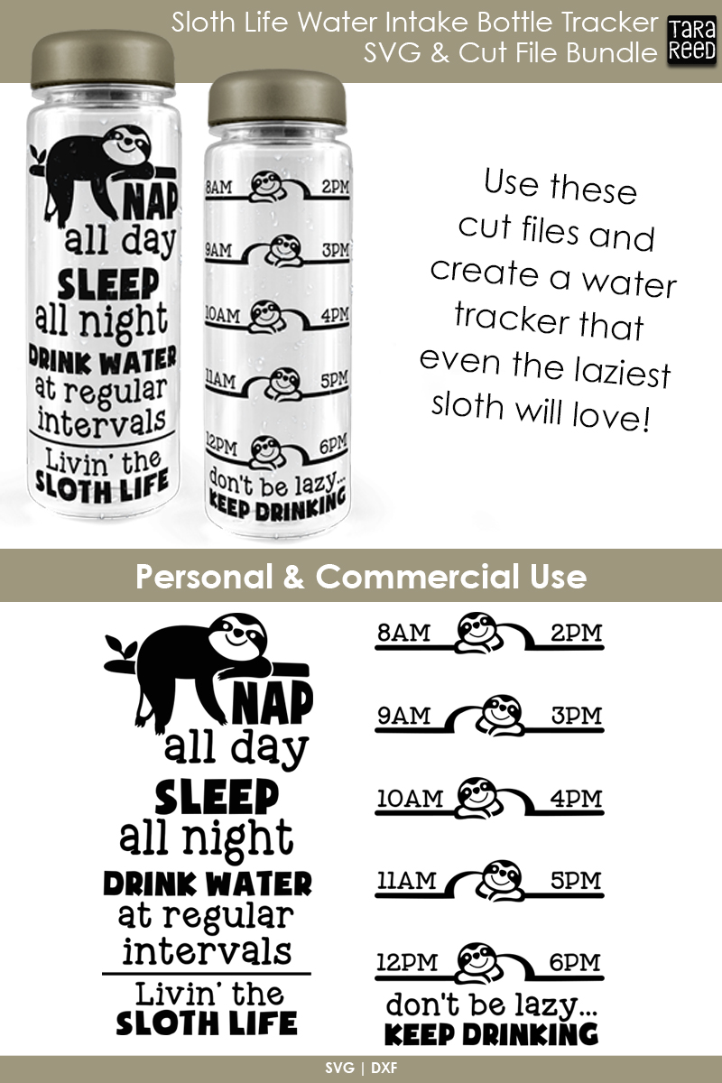 Sloth Water Intake Bottle Tracker example image 2